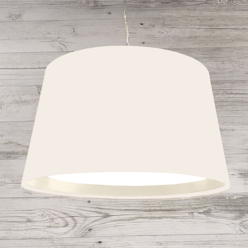 XL French Drum Pendant White
